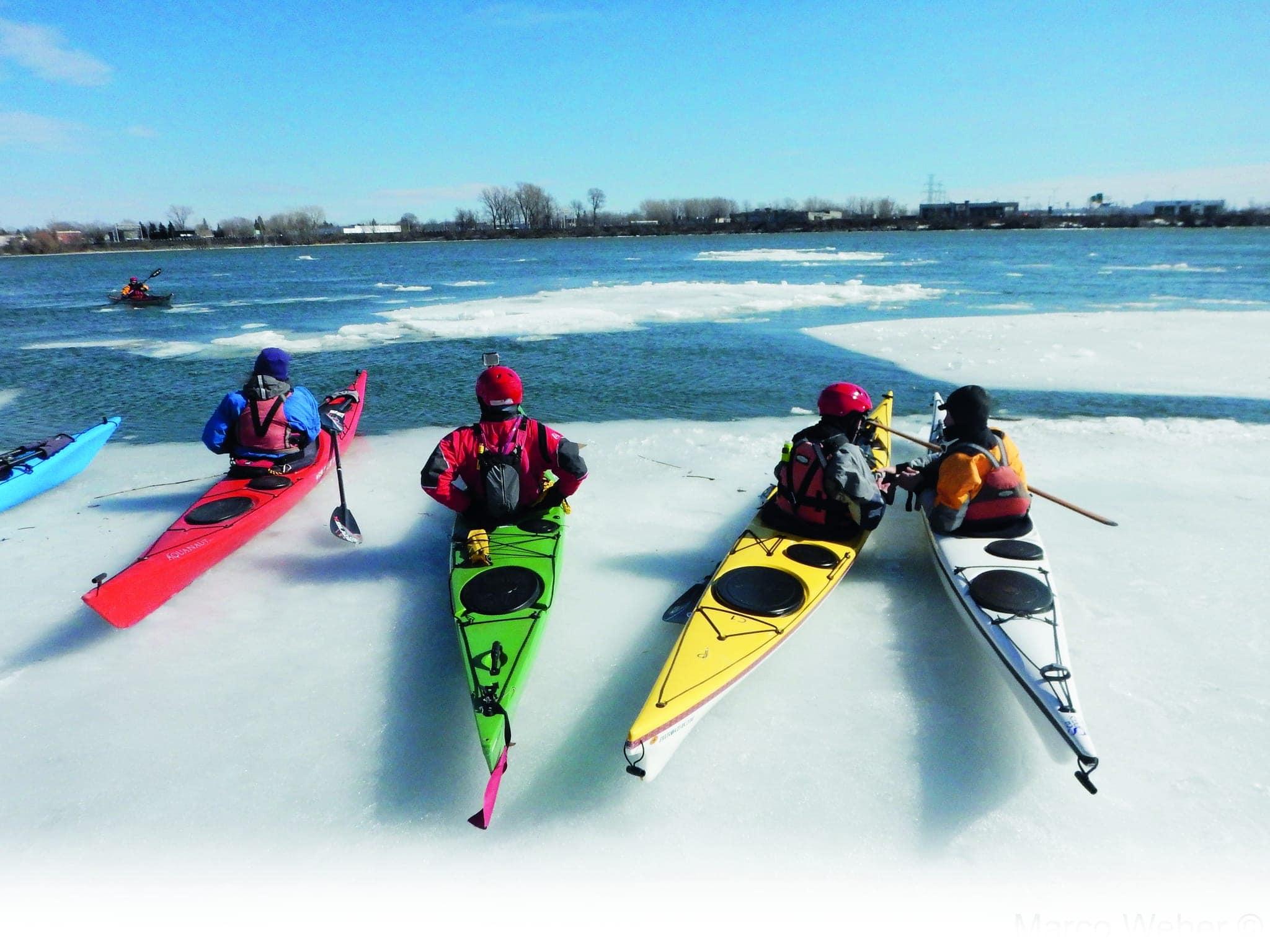Kayak hiver