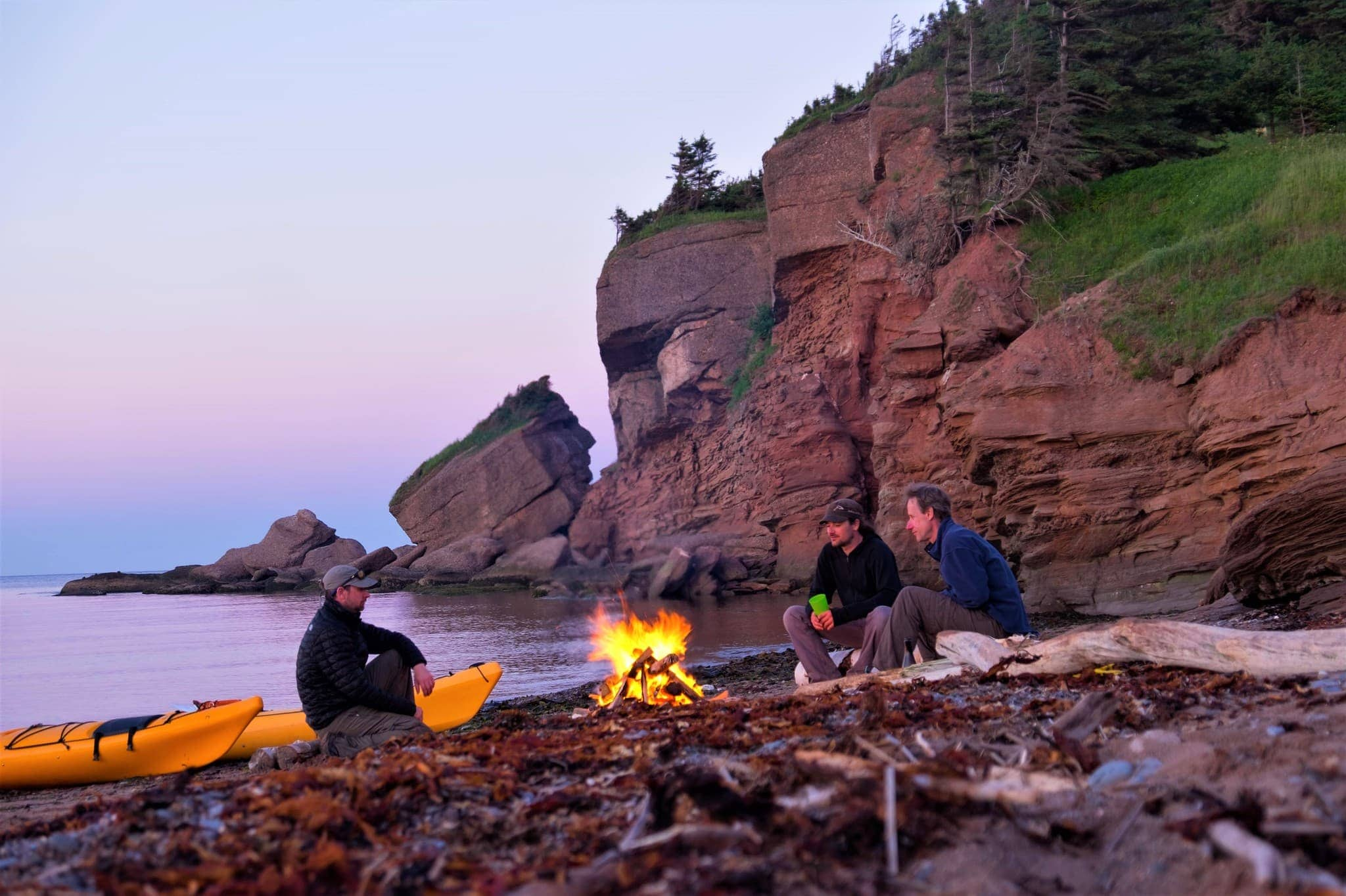 Soirée sur la plage au camping Tête d'Indien